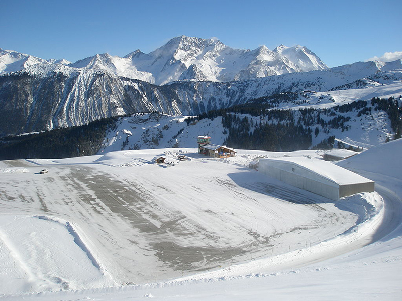 Courcheval International Airport in France