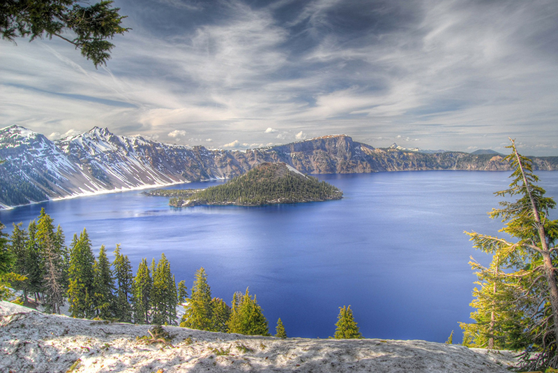 Crater Lake in the Cascade Range