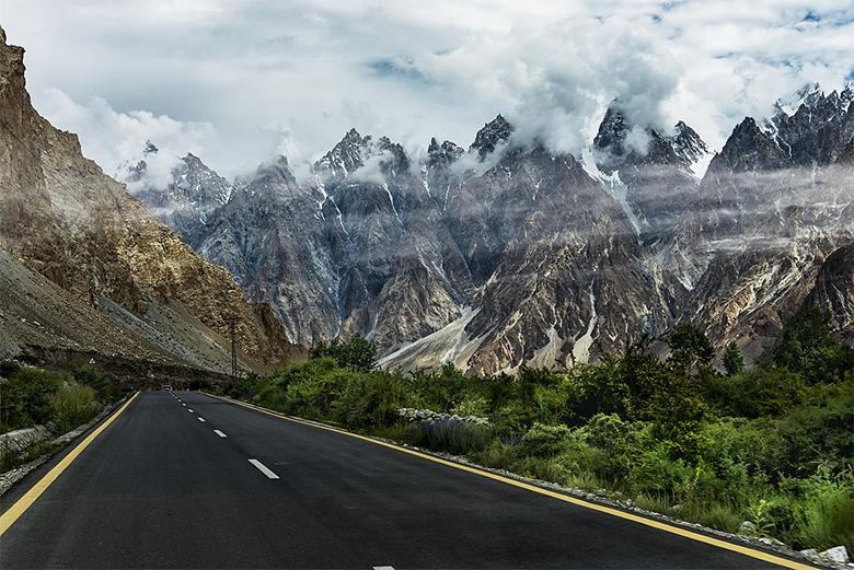 Karakoram Highway in Pakistan