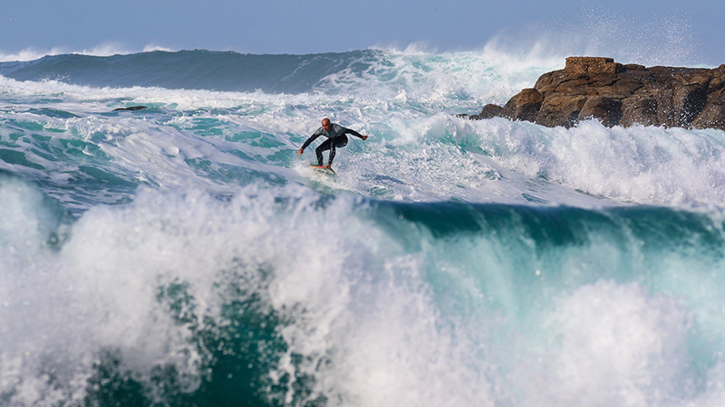 Surfing the highest Wave