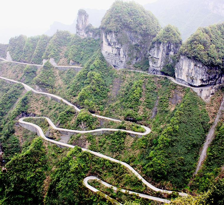 Tianmen Mountain Road in China
