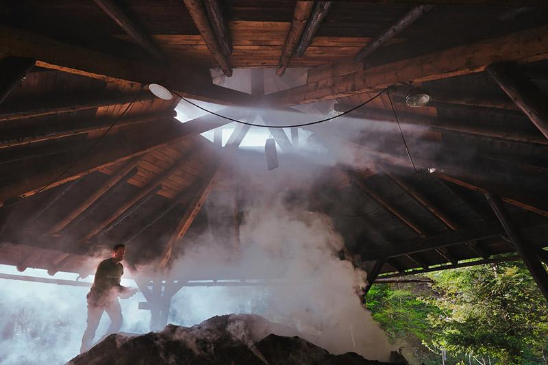 The charcoal kilns
