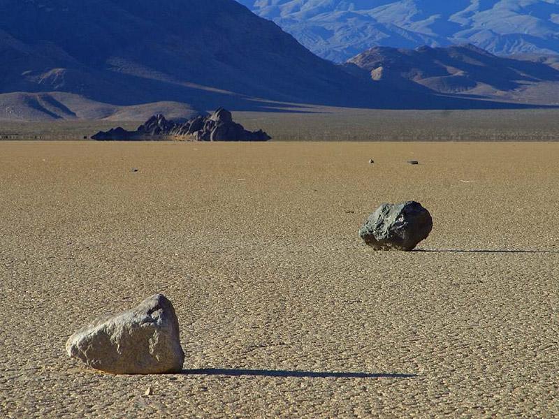 Natural Rock Moving at the valley
