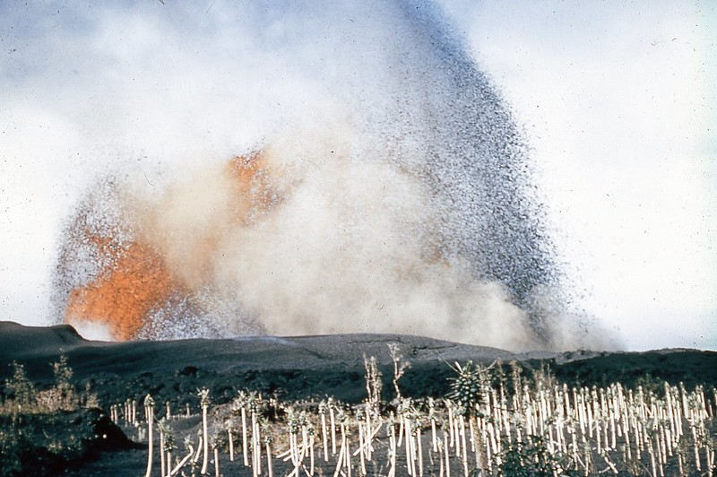Volcanoes are erupting since 1983