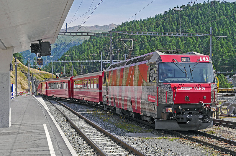 The Albula Railway Line