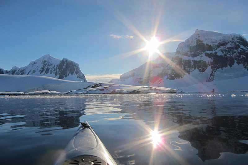 Deep Lake in Antarctica