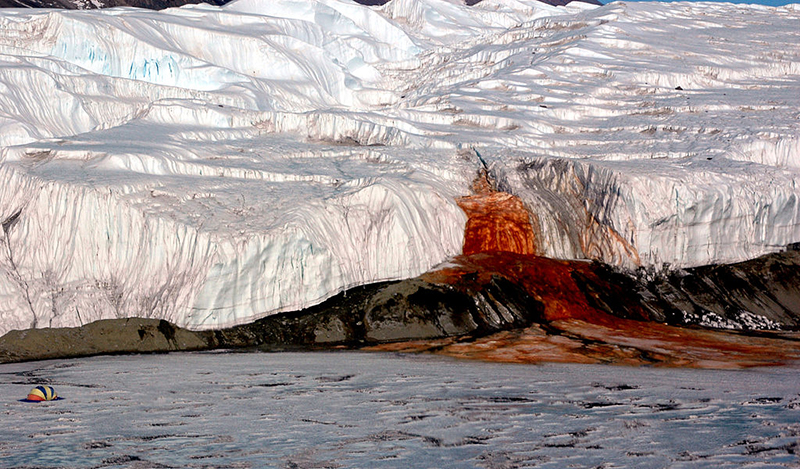 Blood fall in Antarctica
