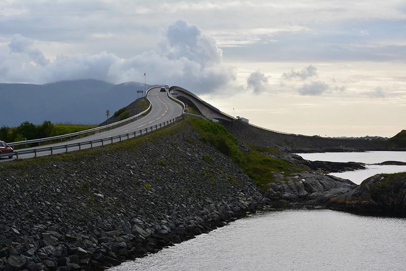Travel along the Atlantic Ocean Road